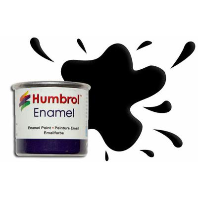 Humbrol Peinture enamel 021 Noir Brillant