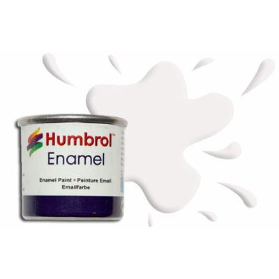 Humbrol Peinture enamel 130 Blanc Satine