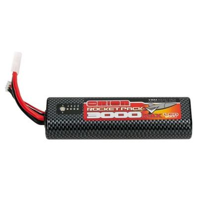 ORION BATTERIE LIPO 2S ROCKET V-MAX 3000-55C (7.6V) LED ROUND - TAMIYA ORI14078