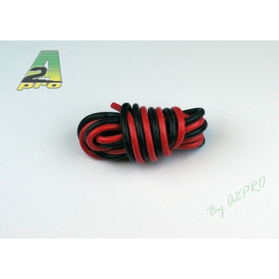 A2P  Fil silicone AWG14 - 2,12mm² rouge+noir, 17140