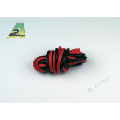 A2P  Fil silicone AWG8 - 8.3² Rouge + Noir (2x1m) 17080