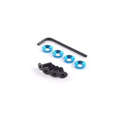 FASTRAX Kit Vis + rondelles moteur M5 Bleu, FAST149