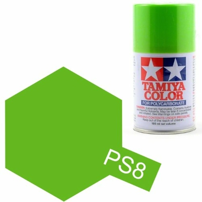 TAMIYA PS8  vert claire Bombe peinture lexan 100ml, TAMI86008