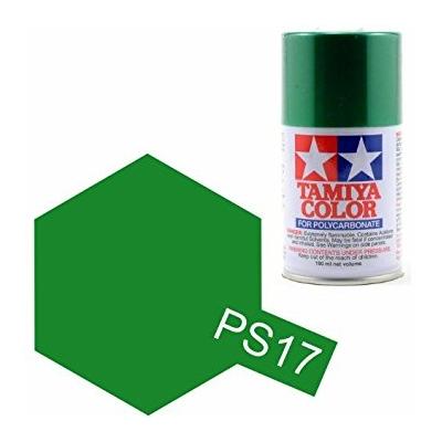 TAMIYA PS17  vert metallisé Bombe peinture lexan 100ml, TAMI86017