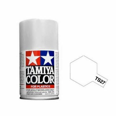 TAMIYA TS27 Blanc Mat Bombe peinture Maquette