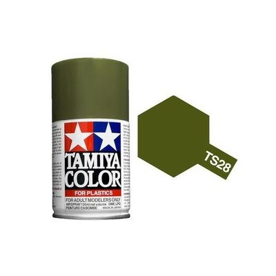 TAMIYA TS28 Vert  Olive Mat Bombe peinture Maquette, TAMITS28