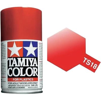 TAMIYA TS18 Rouge Metallique Bombe peinture Maquette