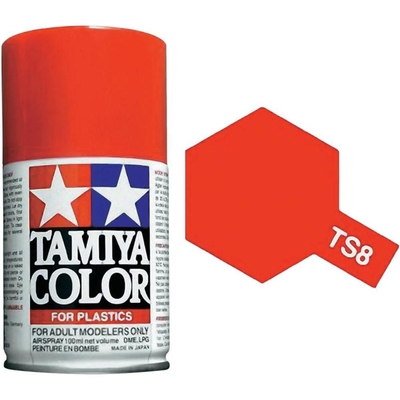 TAMIYA TS08 Rouge Italien Brillant Bombe peinture Maquette
