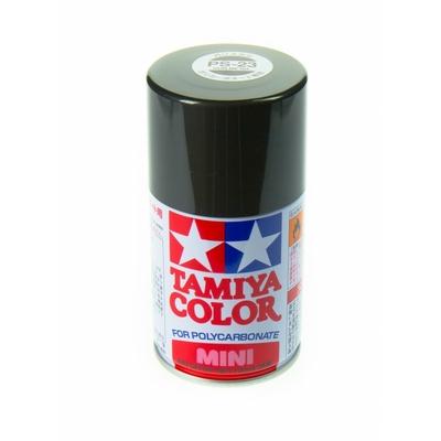 TAMIYA PS23 GRIS METALLISE Bombe peinture lexan
