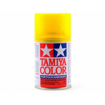 TAMIYA PS42  jaune transparent Bombe peinture lexan, TAMI86042
