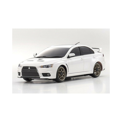 Kyosho Mini-z Sports 4wd Mitsubishi Lancer Evolution X Pearl White + KT19 RTR 32142PW-B