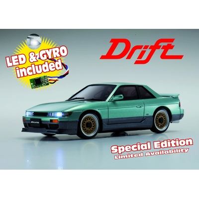 KYOSHO MINIZ MA020S NISSAN SILVIA LIME GREEN w/LED & GYRO SPECIAL EDITION, 32134GT-G