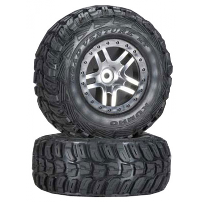 TRAXXAS Roues Montees Collees Kumho Pour 4X4 Avant/Arriere -4X2 Arriere, TRX6874R