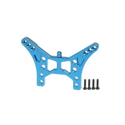 3RACING Support amortisseur arrière alu bleu RC18-B, A18-B28/LB