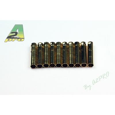 A2P Contact femelle plaqué OR 4mm (10 pièces), 14042