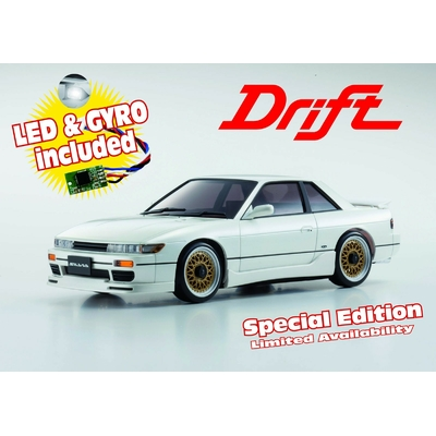 Mini-Z MA020S NISSAN SILVIA PEARL WHITE w/LED & GYRO SPECIAL EDITION, 32134PW-G