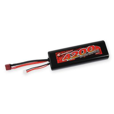 Robitronic LiPo Battery 4200mAh 2S 40C T-Plug Stick Pack, R05232