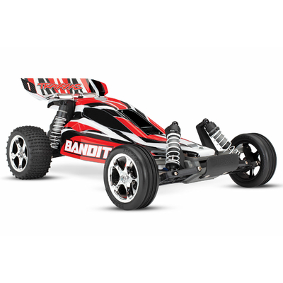 TRAXXAS BANDIT - 4x2 - ROUGE - 1/10 BRUSHED TQ 2.4GHZ - iD, 24054-1-RED