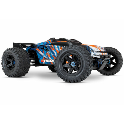 TRAXXAS E-REVO - 4x4 - ORANGE - 1/10 BRUSHLESS - TSM - SANS AQ/CHG, 86086-4-ORNG