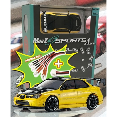 KYOSHO Mini-Z MA020 SPORTS 4WD SUBARU IMPREZA WRX AERO KIT (KT19) w/LED, 32143MY-L