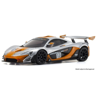 MINI-Z RWD McLaren P1 GTR Silver/Orange Readyset RTR, 32324SO