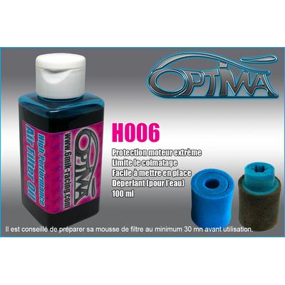 6Mik Huile de filtre à air Bleu 100ml, H006