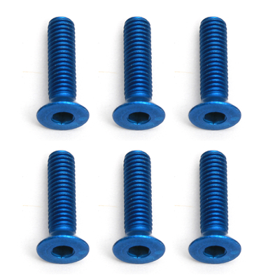 Team Associated Factory Team M3X12 Fhcs Blue Aluminium (6), AS8556