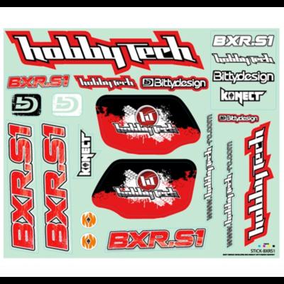 HOBBYTECH Planche de stickers Hobbytech BXR.S1 buggy, STICK-BXR.S1