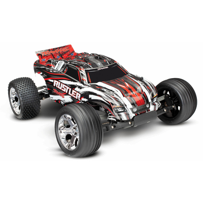 TRAXXAS RUSTLER Rouge 4x2 1/10 Brushed TQ 2.4ghz sans accu/chargeur, 37054-4-RED