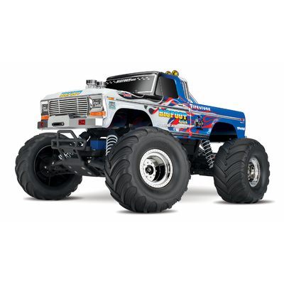 TRAXXAS Monster Truck Bigfoot Flame 2wd Brushed TQ iD RTR, 36034-1-FLME