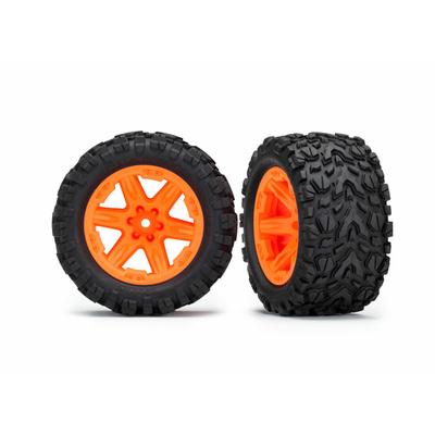 "TRAXXAS Roues RXT Oranges Talon 2.8"" (x2) Rustler 4X4, 6773A"