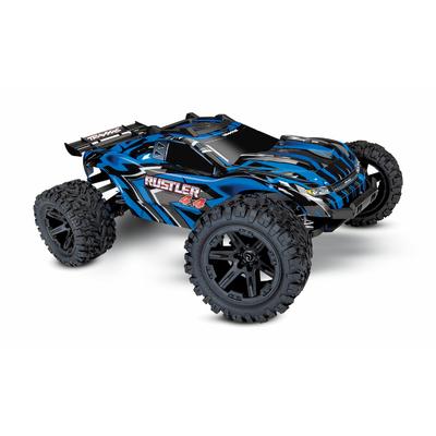 TRAXXAS RUSTLER - 4x4 -BLEU - 1/10 BRUSHED STADIUM TRUCK TQ 2.4GHZ, 67064-1-BLUE