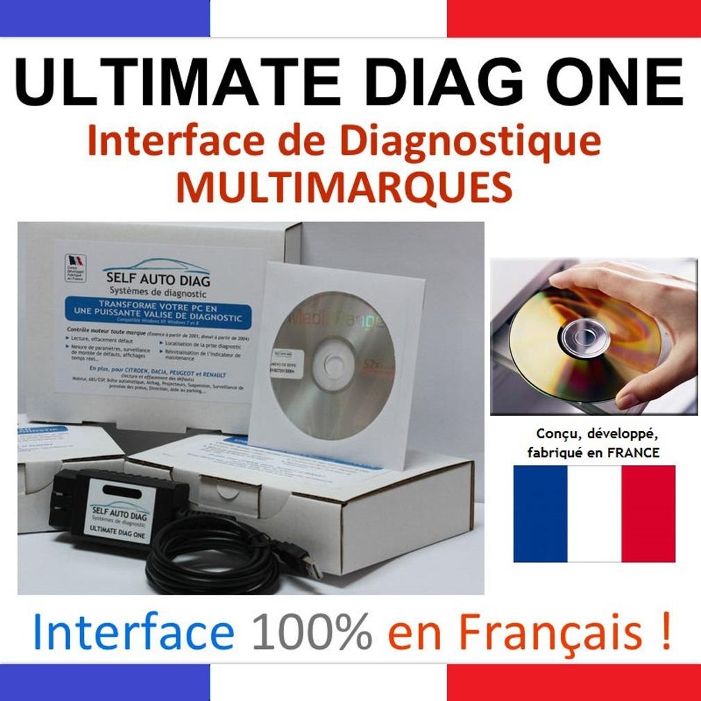 Logiciel de diagnostique Auto Multimarque ( CD-Rom )
