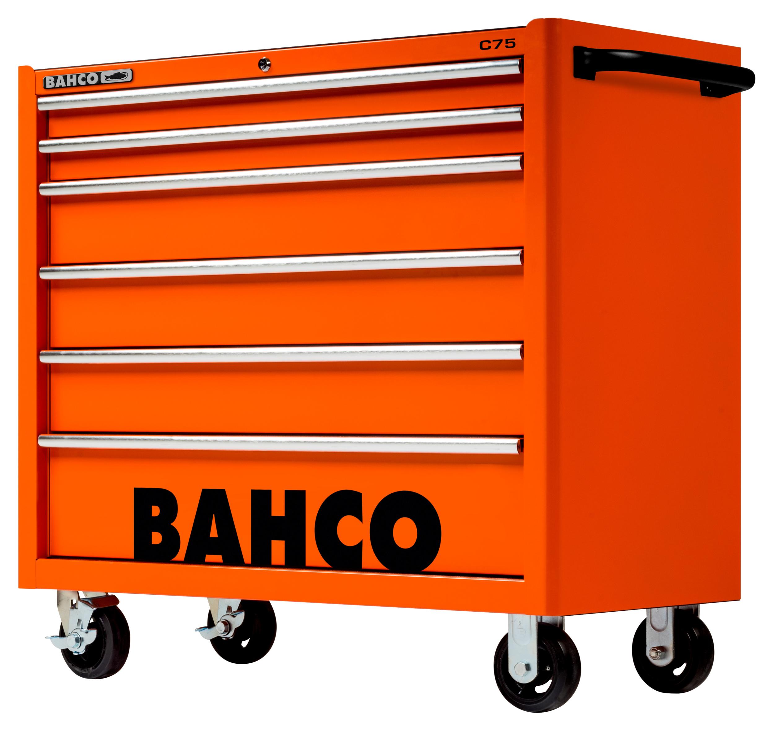 Servante d\'atelier 6 tiroirs XL orange