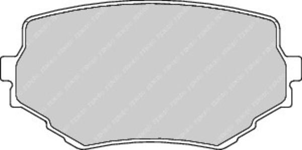 Plaquettes De Frein Avant Ferodo Fdb1565 (Jeu De 4)