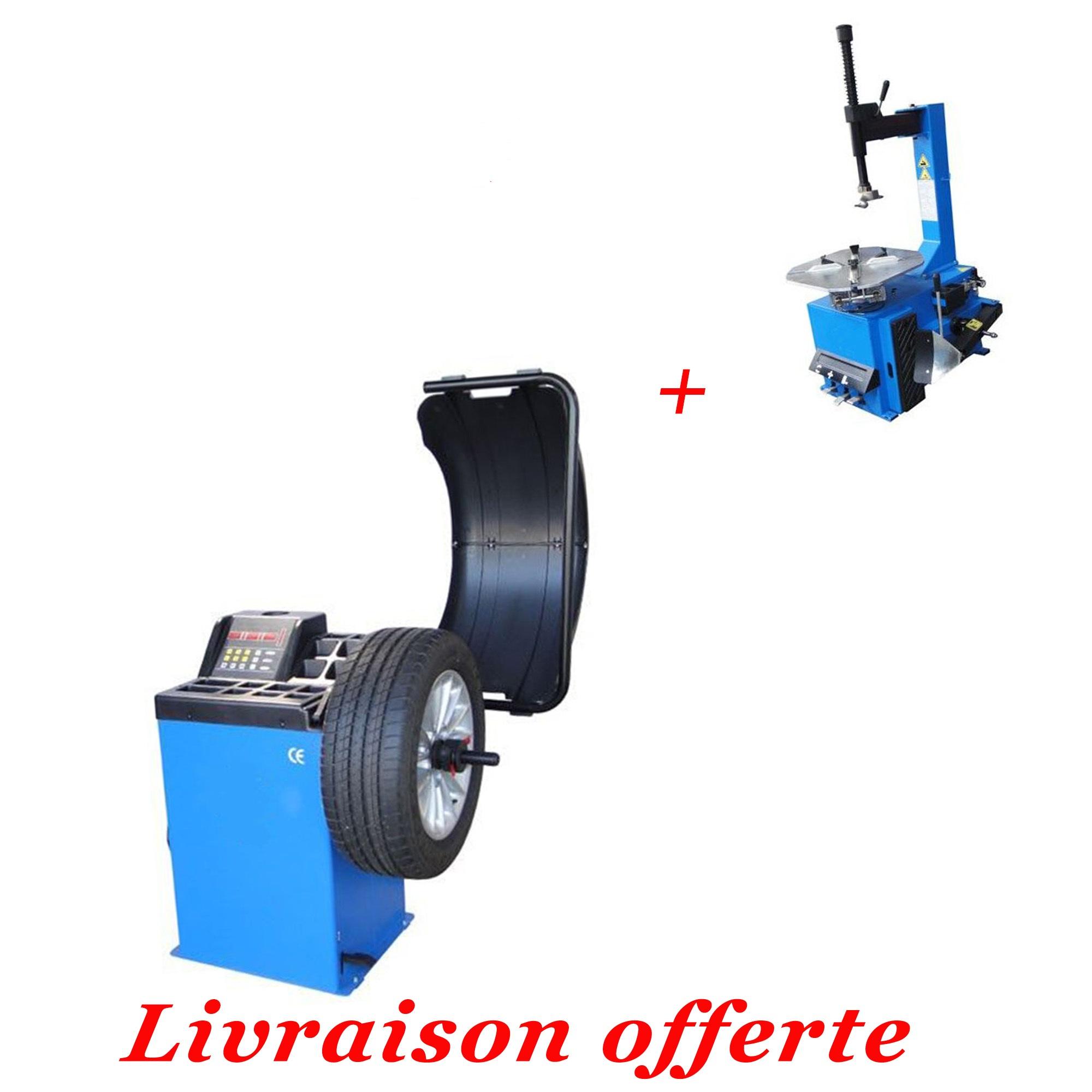 Lot Machine Démonte Pneu + Équilibreuse 220V