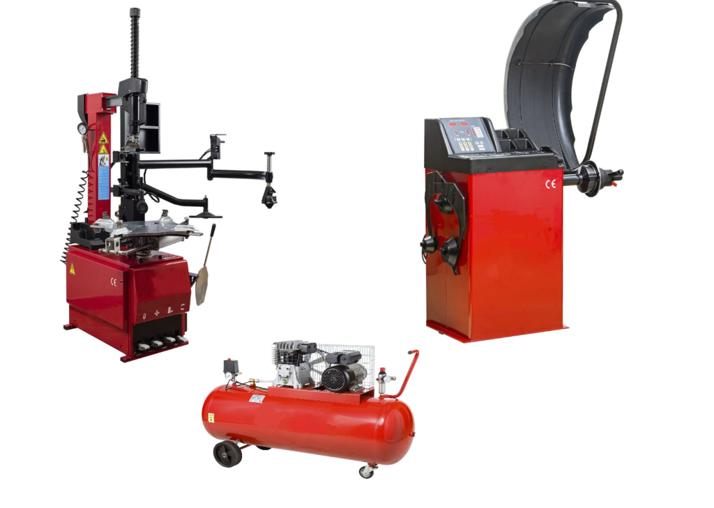 pack-machine-pneu-3-bras-equilibreuse-compresseur-220-volts