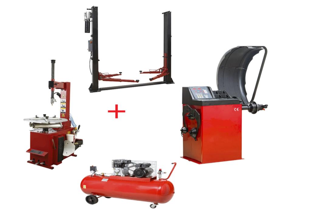 Pack Montage Équilibrage + Compresseur + Pont 220 Volts