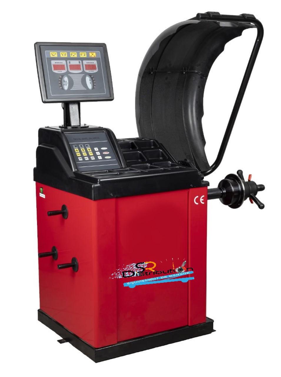 Équilibreuse de roue automatique écran déporté 220 Volts
