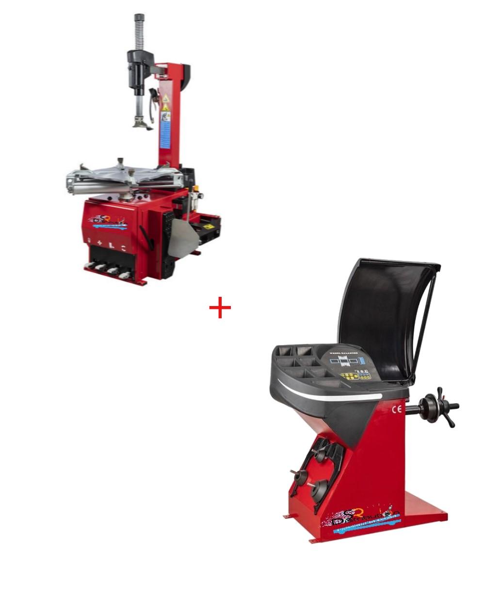 Pack Machine Démonte Pneu Automatique 24 Pouces + Équilibreuse de roue automatique 220V