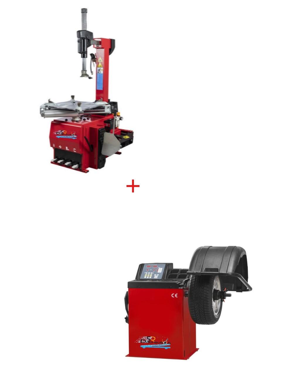 Pack Machine Démonte Pneu Automatique 24 Pouces + Équilibreuse de roue semi auto 220V