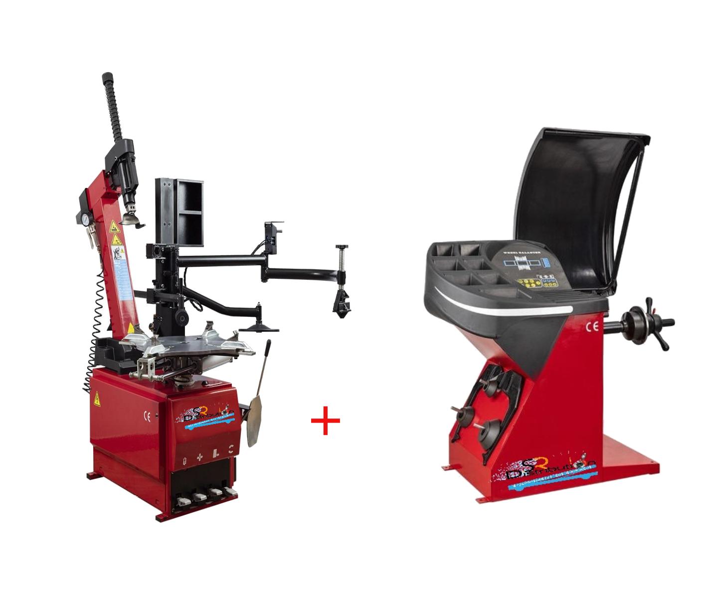 Machine Démonte Pneu Runflat + Équilibreuse de roue automatique 220V