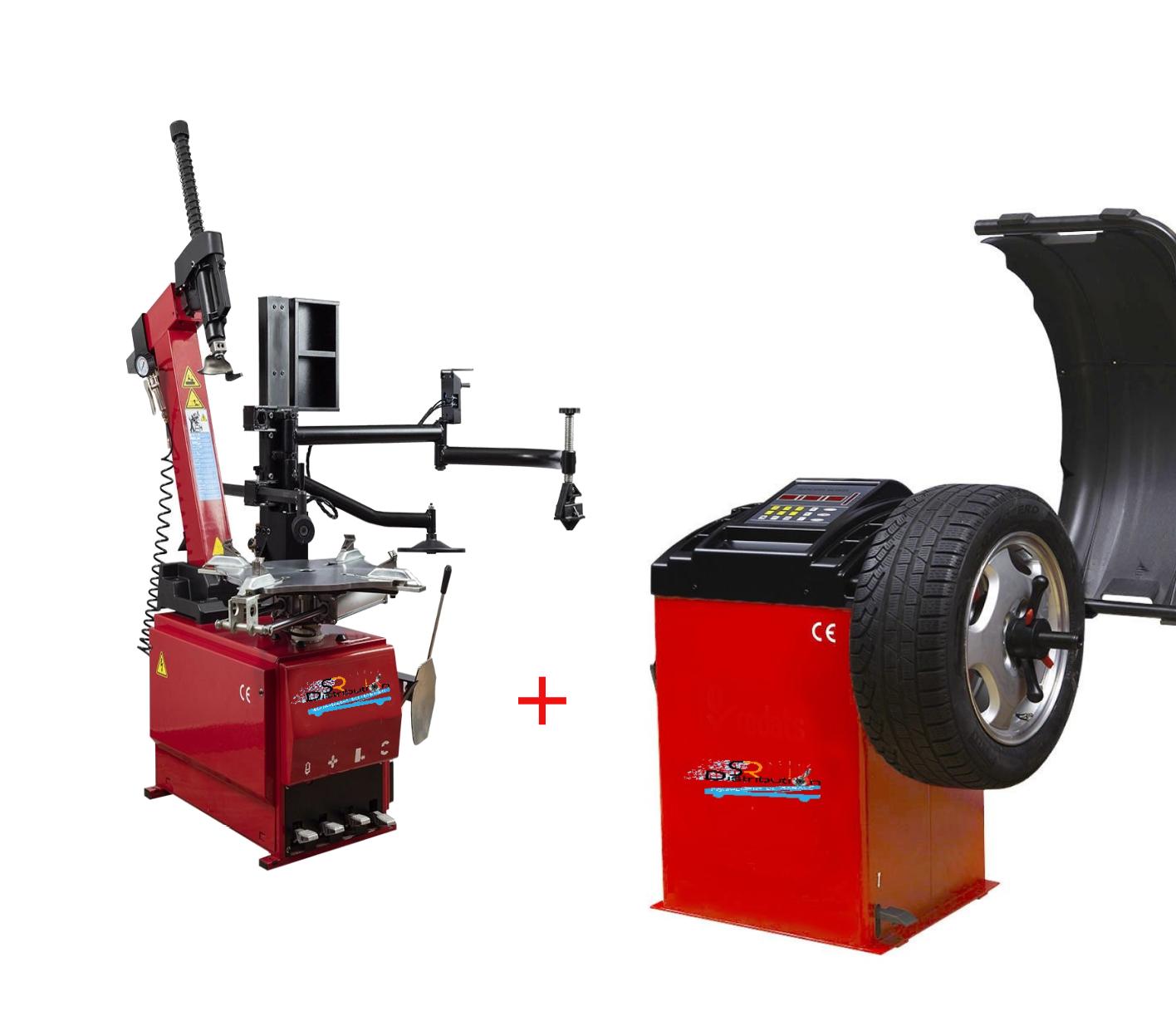 Machine Démonte Pneu Runflat + Équilibreuse de roue automatique Pro 220V