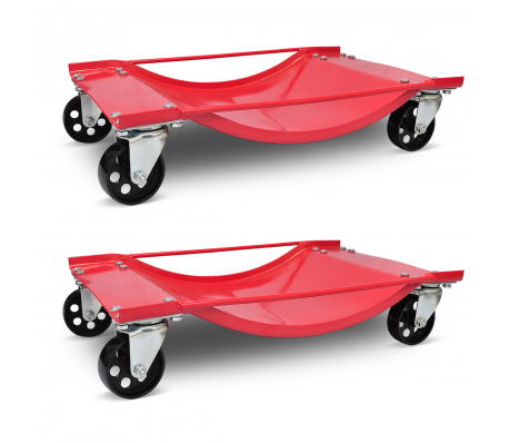 lot de 2 chariot d place voiture 500kg outillage automobile servante d 39 atelier. Black Bedroom Furniture Sets. Home Design Ideas