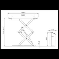 dimensions pont ciseuax 3t