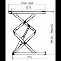 pont ciseaux 3.5 h2050