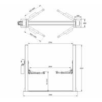 schema implantation pont elevateur 2 colonnes