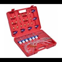 Coffret contrôle de retour injecteur + 24 adaptateurs Bosch Denso Delphi Siemens