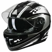 Casque intégral moto SP-109 S GP noir/gris L