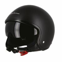 Casque jet moto Noir Mat XL Visière Fumée